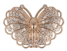 Magnetische Broche vlinder 45mm Rosé Goud