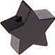 Houten kraal Mini-ster zwart effen ''babyproof''