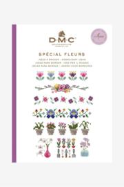 DMC Mini Borduurboekje  Spécial Fleurs (bloemen) met garen