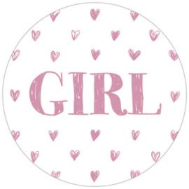Kadosticker Girl Roze 10 st