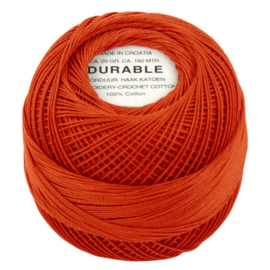 Durable borduur en haakkatoen Oranje 1010