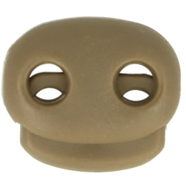 Koordstopper tweegaats ±22x20mm 837 Taupe