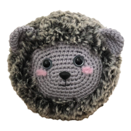 Furry Friends Donkergrijze Egel Garen- en Fourniturenpakket