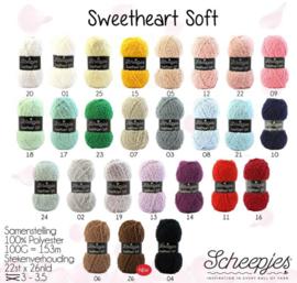 Staalkaart Scheepjes Sweetheart Soft