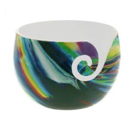Yarn Bowl Illusion onbreekbaar groen, blauw en geel