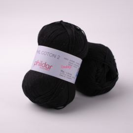Phildar Coton 2 Noir 0067