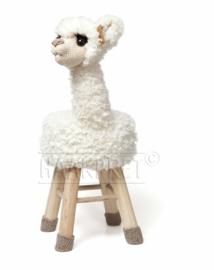 Garenpakket Alpaca Fien wit dierenkruk deel 3 haken