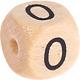 Houten Cijferkraal gegraveerd 10mm  - 0 -