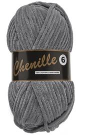 Chenille 6 -Lammy Yarns 002 Donkergrijs
