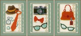 Miniatuur kit vintage accessoires  set van 3