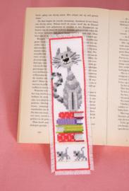Bladwijzer Kat op boekenstapel (1 stuk)
