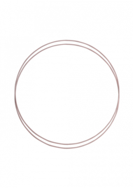 Go Handmade Metalen ringen set (2pc) kleur:Vintage rose - 25cm