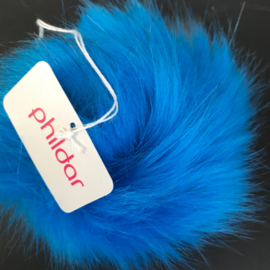 Pompon 10cm Bleu
