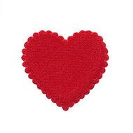 Hartje vilt rood 35 x 35 mm