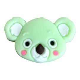 Siliconen kraal Koala hoofd -Mint