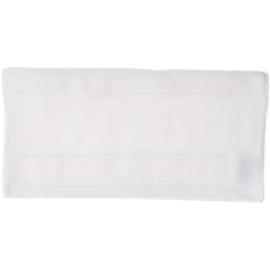 Handdoek wit met borduurrand