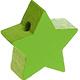 Houten kraal Mini-ster lichtgroen effen ''babyproof''