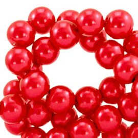 30  Glas Parels cherry red - 8mm