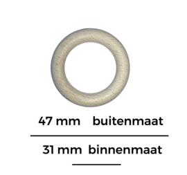 Houten beuken ring  47mm binnenmaat 31
