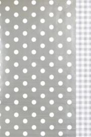 Inpakken in grijs met witte blokken