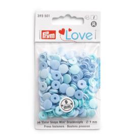 Color snaps -  Prym Love color MINI rond 9mm blauwtinten