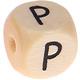 Houten Letterkraal gegraveerd 10mm   - P -
