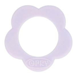 Opry siliconen Bloem bijtring  Lila - 187