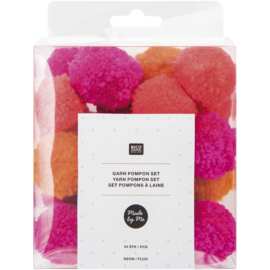 Rico Yarn Pompon set Neon