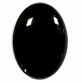 Zwarte ovale oogjes 4,5mm