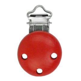 Houten speenclip  Rood klein
