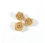 Satijnen roosje zonder blaadjes goudkleur - per stuk