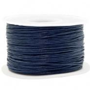 Wax koord 1 mm Dark Blue
