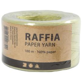 Papier Raffia garen - Lichtgroen - 7-8mm