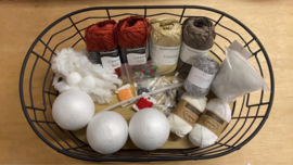 Garen en Fourniturenpakket Kerstballen Christel  - Wit