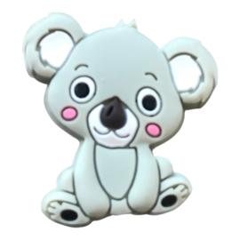 Siliconen kraal Koala zittend - Grijs