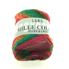 Lang Yarns Mille Color socks & lace 55