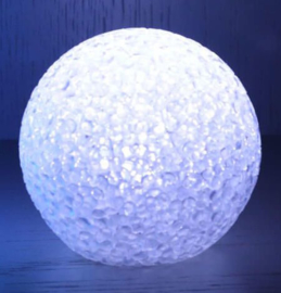 LED lichtbal - lichtbol 8cm wit voor Bizzy Bee party haken
