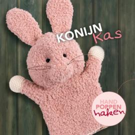 Haakpakket Konijn Kas uit boek Handpoppen haken Cute Dutch