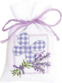 Geurzakje Lavendeltakjes met vlinder aida