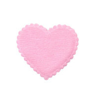 Hartje vilt roze 35 x 35 mm