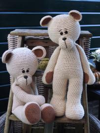 XXL Bear Basic Linnen haakpakket  zittend/staand Linnen