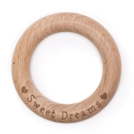 Houten beuken ring  70mm x 10mm ♥ Sweet Dreams