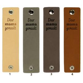 Durable Rechthoekige leren labels met drukknoop van 12 x 3 cm - Door Mama gemaakt per 2 stuks