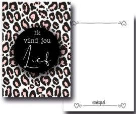 Mini kaartje Ik vind jou lief