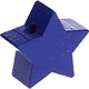 Houten kraal Mini-ster cobalt effen ''babyproof''
