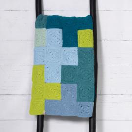 Criss-Cross Blanket Blue/Grey