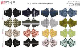 Restyle panel 60cm stof met 16 voorbedrukte mondkapjes