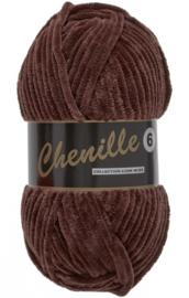 Chenille 6 -Lammy Yarns 110 Donkerbruin