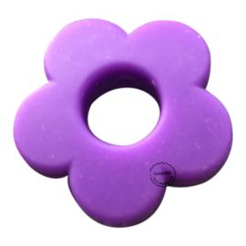 Siliconen bloem Paars  28mm