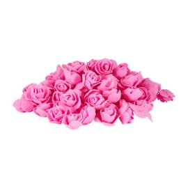 Foam roosje roze 5 stuks